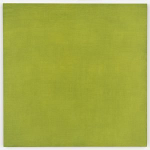 Double Glaze Painting: Terre Verte/Indian Yellow, 2003, SOLD