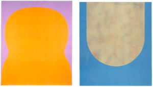 Left: 128., September 1966. Acrylic on canvas, 78.7 x 66.9 inches (200 x 170 cm) Right: 189., March 1968. Acrylic on canvas, 45.2 x 39.3 inches (115 x 100 cm)