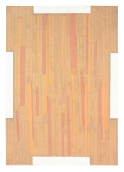 I., February 1962. Varnish on brown paper, wood, 39. 4 x 27.5 inches (100 x 70 cm)